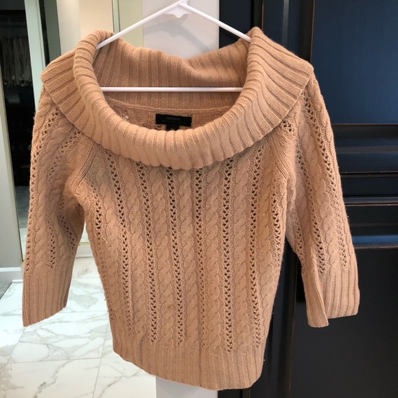 ceadc130c68 Express Sweaters - Cowl neck cable knit sweater.